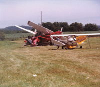 Fairfield County Airport (LHQ) - Tornado damage - Four of eight severely damaged planes. - by Bob Simmermon