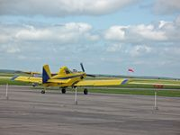 South Texas Regional At Hondo Airport (HDO) - The EAA Texas Fly-In, Ag spray plane departing - by Timothy Aanerud