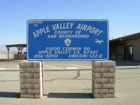 Apple Valley Airport (APV) - Airport Sign - by COOL LAST SAMURAI