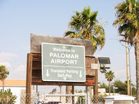 Mc Clellan-palomar Airport (CRQ) - CRQ TRANSIENT PARKING SIGN - by COOL LAST SAMURAI