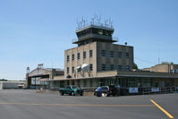 Capital City Airport (CXY) - This old terminal and hangar are the main buildings at Capital City Airport. - by Daniel L. Berek