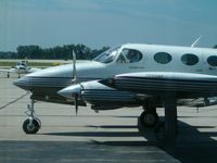 Austin Straubel International Airport (GRB) - A Cessna 340 taxiing on the tarmac at Green Bay. - by IndyPilot63