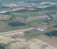 Wyandot County Airport (56D) - From 2500' over Upper Sandusky, OH - by Bob Simmermon