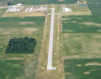 Fulton County Airport (USE) - Looking west from 3000' - Wauseon, OH - by Bob Simmermon