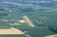Henry County Airport (7W5) - Looking west from 3000' - Napoleon, OH - by Bob Simmermon