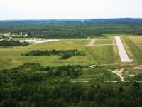 Cheboygan County Airport (SLH) - Final for 27 at Cheboygan, MI - by Bob Simmermon