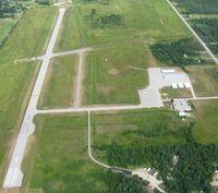 Cheboygan County Airport (SLH) - View from pattern altitude over Cheboygan, MI - by Bob Simmermon