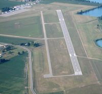 Lenawee County Airport (ADG) - Taxiway diagram.  Adrian, MI from 3500' - by Bob Simmermon