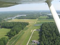 Barber Airport (2D1) - Downwind for 27, looking up 36 at Alliance, OH - by Bob Simmermon
