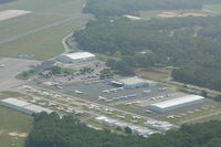 Brookhaven Airport (HWV) - General Aviation Parking Ramp - by Mark Pasqualino