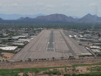 Scottsdale Airport (SDL) - On final for runway 21 - by John Meneely