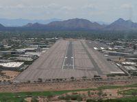Scottsdale Airport (SDL) - On final for runway 21 - by John Meneely