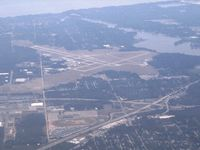 Muskegon County Airport (MKG) - Looking west from 6500' - by Bob Simmermon