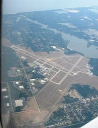 Muskegon County Airport (MKG) - Muskegon, MI from 6500' - by Bob Simmermon