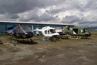 Pitt Meadows Airport (Pitt Meadows Regional Airport) - Some stored helis - by Yakfreak - VAP