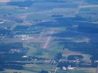 Gratiot Community Airport (AMN) - On a hazy summer day from 5500' - by Bob Simmermon