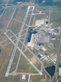Capital Region International Airport (LAN) - View from 8500' - by Bob Simmermon