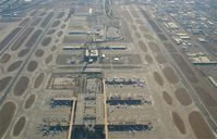 Phoenix Sky Harbor International Airport (PHX) - A view of Phoenix Sky Harbour looking towards the West - by mikkelly@indigo.ie