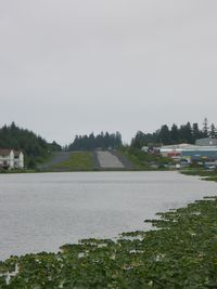 Kodiak Municipal Airport (KDK) - Looking to the East.  Lilly Lake Seaplane Base in foregound - by Timothy Aanerud