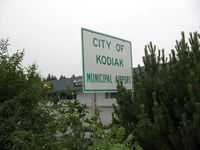 Kodiak Municipal Airport (KDK) - West side Entrance Sign - by Timothy Aanerud