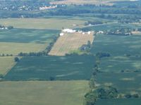 Columbus Southwest Airport (04I) - Looking east from 2500'.  Looks like Eddie's still keeping it mowed. - by Bob Simmermon