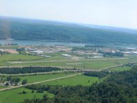 Gallia-meigs Regional Airport (GAS) - Looking south, Ohio River and West Virginia beyond. - by Bob Simmermon