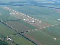 Pickaway County Memorial Airport (CYO) - Looking SW from 3000'.  Yellow Bud VOR (XUB-112.5) to the far right. - by Bob Simmermon