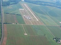 Pickaway County Memorial Airport (CYO) - Looking S from 3000' with Yellow Bud VOR (XUB-112.5) in the foreground. - by Bob Simmermon