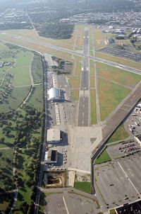 Republic Airport (FRG) - Looking south (RWY 19) over Select Aviation - by Stephen Amiaga
