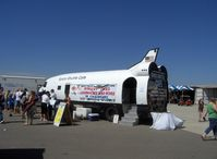 Camarillo Airport (CMA) - mobile Space Shuttle Cafe uses modified Douglas DC-3 fuselage and big block Chevy 454 power - by Doug Robertson