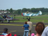 Fairfield County Airport (LHQ) - N21CY (82 Yak) at Wings of Victory Airshow - Lancaster, OH - by Bob Simmermon