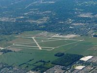 Ohio State University Airport (OSU) - Looking SE from 5500' - by Bob Simmermon