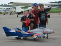 Bellefontaine Regional Airport (EDJ) - That's what it's all about.  Sean Saddler's RC jets at Airfest 2007 - Bellefontaine, OH - by Bob Simmermon