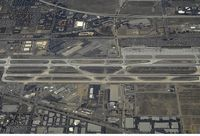 Ontario International Airport (ONT) - Aerial view of Ontario Airport, CA. - by Mike Khansa