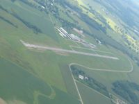 Galion Municipal Airport (GQQ) - View SW from 2500' - by Bob Simmermon