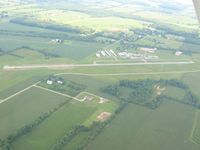 Galion Municipal Airport (GQQ) - View looking S from 2500' - by Bob Simmermon