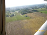 Fairplains Airpark Airport (02MI) - Approach to Final Runway 27 - by Kathy