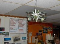 Merrill Field Airport (MRI) - Peggy's Airport Restaurant. Beer can biplane - by Doug Robertson