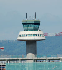 Barcelona International Airport, Barcelona Spain (LEBL) - ATC Tower, inaugurated in 1996 and operative until July of this year. - by Jorge Molina