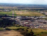 Sandtoft Airfield - The Car Storage Depot makes this an easy airfield to find - by Terry Fletcher