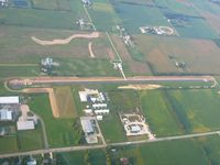 Nappanee Municipal Airport (C03) - Looking south from 3500' - by Bob Simmermon