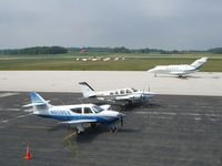 Sheboygan County Memorial Airport (SBM) - A nice tarmac shot from the FBO balcony... - by IndyPilot63