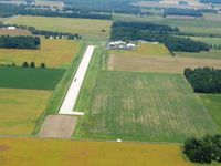 Wyandot County Airport (56D) - Looking up runway 36 at Upper Sandusky - by Bob Simmermon