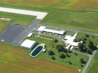 Wyandot County Airport (56D) - Ramp and hangers.  No fuel. - by Bob Simmermon