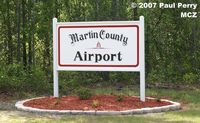 Martin County Airport (MCZ) - Current signage at the entrance road - by Paul Perry