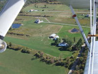 Treichler Farm Airport (5NK9) - Pete's home strip (pete's at the controls of the Fleet photo plane N8600) - by Jim Uber