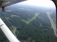 Cox Airport (NC81) - Looking East - by George Abbott