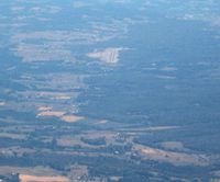 Lee County Airport (0VG) - Looking E from 8000' - by Bob Simmermon