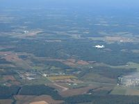 Alexander Salamon Airport (AMT) - From 4500' with N24TS in sight. - by Bob Simmermon