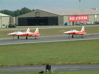 RAF Fairford Airport, Fairford, England United Kingdom (FFD) - Patrouille Suisse at Royal International Air Tattoo 2004 - by Steve Staunton